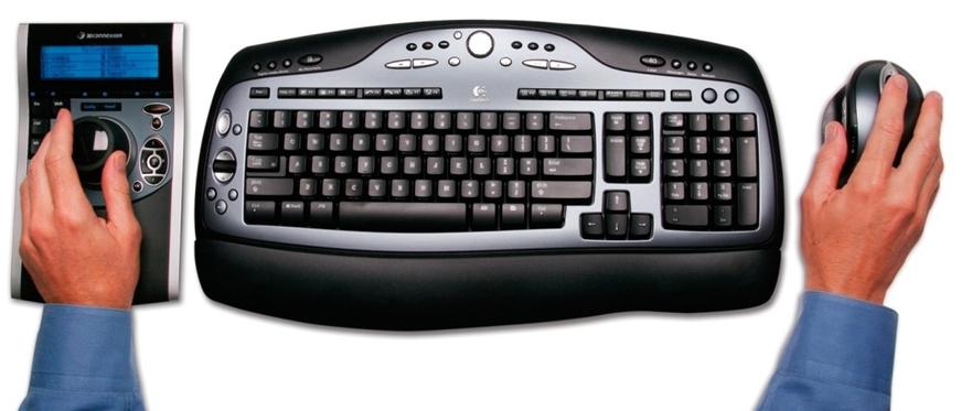 Mysz 3D SpacePilot Pro, klawiatura, mysz zwykła