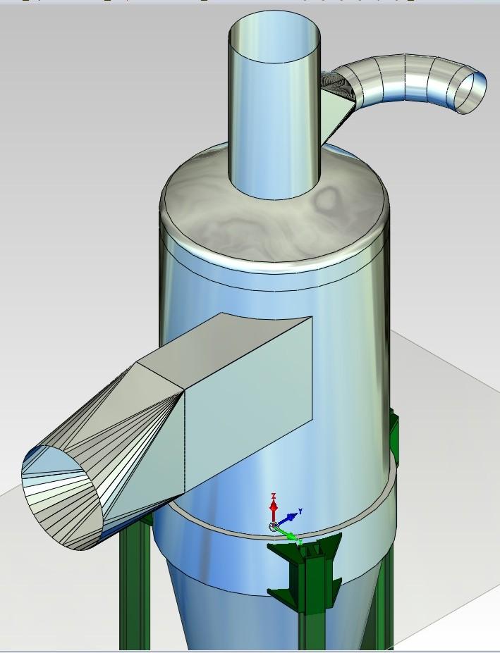 Model 3D zbiornika