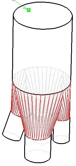 Rozwiązanie - model bryły przejściowej